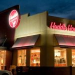 Huddle House Exterior at night