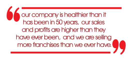 our company is healthier than it has been in 50 years