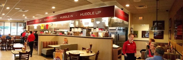 Interior Shot Of Huddle House Restaurant