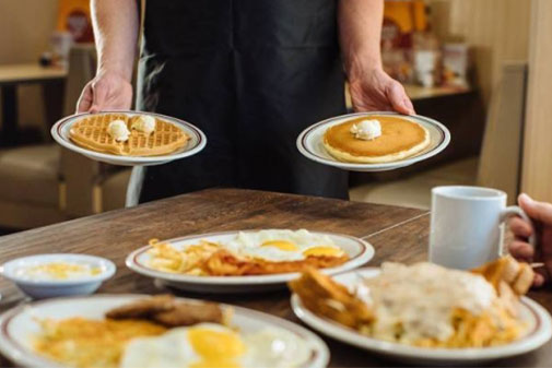 breakfast meals served at Huddle House restaurants