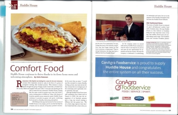 Huddle House Featured In Food & Drink International Magazine