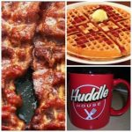 Huddle House Bacon, Pancake and Coffee